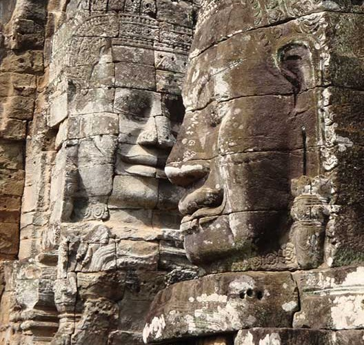 ancient stone faces
