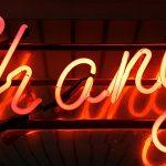 neon letters spelling change